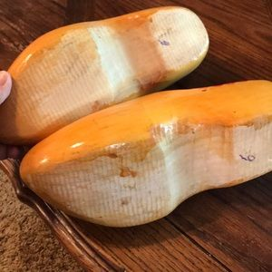 Vintage Accents - Hand carved/painted wooden shoes from Holland